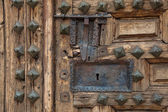 Door of the church of Lerma, Burgos, Castilla y Leon, Spain — Stock Photo
