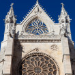 Royalty-Free Stock Photo: Rose window in the cathedral of Leon, Castilla y Leon, Spain