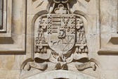 Coat of arms in the cathedral of Burgos, Castilla y Leon, Spain — Stock Photo