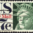 Stock Photo: Airmail stamp Statue of Liberty 17 c
