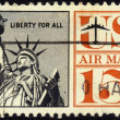 Stamp showing the Statue of Liberty 15 c — Stock Photo