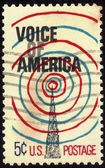 Stamp image Voice of America — Stock Photo