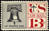 Stamp Let Freedom Ring 13c — Stock Photo