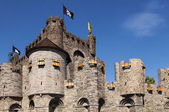 Castle Gravenshteyn in Gent — Stock Photo