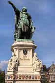 Statue of Jacob van Artevelde,Gent — Stock Photo