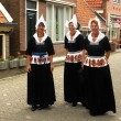 Women of  village of Volendam, The Netherlands - Stock Photo