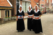 Women of village of Volendam, The Netherlands — Stock Photo