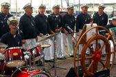 Musical band fishermen — Stock Photo