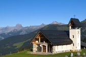 Chapel in the mountains of Switzerland — Stock Photo