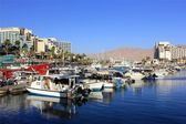 Parking yachts in Eilat, Israel — Stock Photo