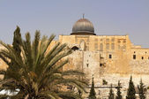 The walls of ancient Jerusalem — Stock Photo