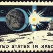 Stamp United States in Space — Stock Photo #10667673
