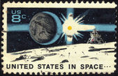 Stamp United States in Space — Stock Photo