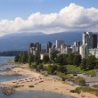 Vancouver, on the beach — Stock Photo