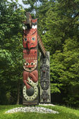 TOTEM PARK AT THE PROVINCIAL MUSEUM — Stock Photo