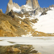 View on top of Fitz Roy - Stock Photo