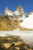View on top of Fitz Roy — Stock fotografie