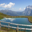 Lake in the Swiss Alps - Stock Photo