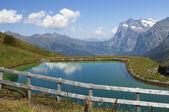 Lago nos alpes suíços — Foto Stock