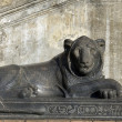 Statue of a reclining lion — Stock Photo