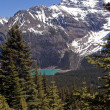 Mountain lake in Canada - Stock Photo