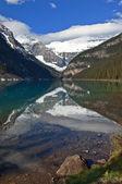 Canadian mountain.Lake Agnes — Stock Photo
