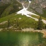 Emerald lake in Sabwatcha canyon — Stock Photo