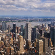 VIEW OVER MANHATTAN, NEW YORK — Stock Photo