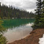 Emerald lake in Argentina — Stock Photo