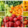 Royalty-Free Stock Photo: Collage of colorful vegetables