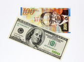 Money of America and Israel — Stockfoto