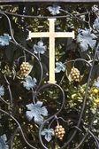 крест на кованые кованые — Стоковое фото