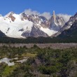 Stock Photo: Top of Fitz Roy in snow