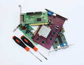 Repair of electronic boards — Stock Photo