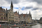 Ghent Graslei on the waterfront — Stock Photo