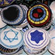 Jewish religious caps - Stock Photo