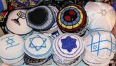 Jewish religious caps — Stock Photo