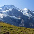 Stock Photo: Snowy peaks in the Swiss Alps