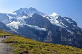 Schneebedeckten gipfeln der schweizer alpen — Stockfoto