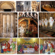 Collage of Church of the Holy Sepulcher.Jerusalem - Stock Photo
