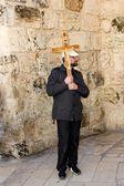 Peregrinos modernos em jerusalém — Foto Stock