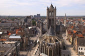 Top view of Ghent in Belgium — Stock Photo