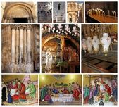 Collage of Church of the Holy Sepulcher.Jerusalem — Stock Photo