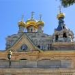Golden domes of the Church — Stock Photo