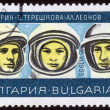Stamp Russian cosmonauts — Stock Photo