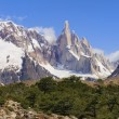 Peaks the mighty Fitz Roy — Stock Photo