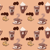 Seamless coffee background wallpaper — Stock Vector