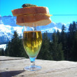 Skiers lunch — Stock Photo #7991591