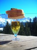 Skiers lunch — Stock Photo