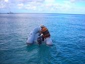 Caribbean shuttle — Stock Photo